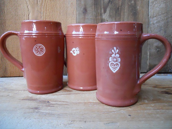Coffee Mugs Hand Crafted With Pure Salt Spring Clay